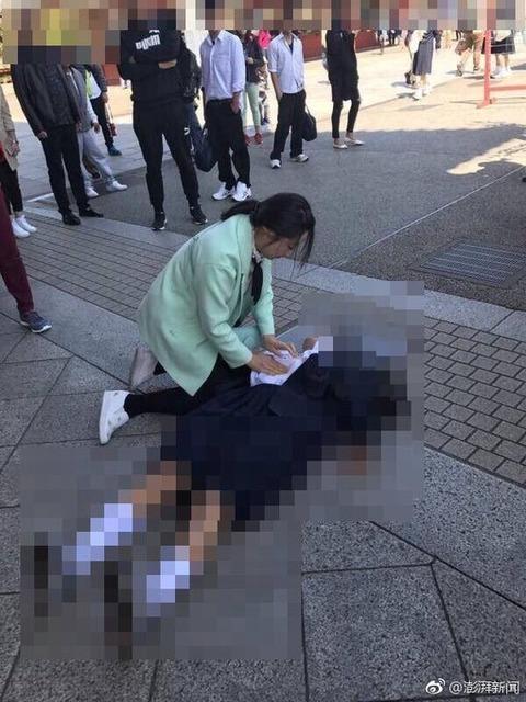 浅草の街中で倒れた女子中学生を中国人旅行客が介抱 あれ?ジャップは?