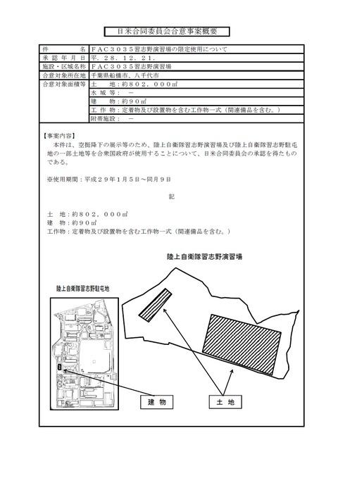 日米合同委員会合意(習志野演習場)
