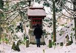 我路神社のお稲荷さんにて(2009 元日)
