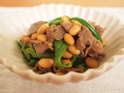 大豆と牛肉の炒め煮