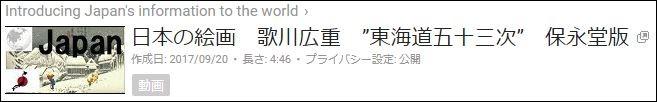 日本の絵画 東海道五十三次 保永堂版