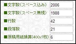 文字数昔話シリーズ第15話