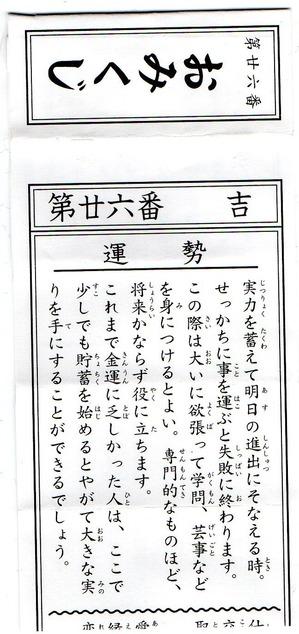 2018年賢狼パニのおみくじ
