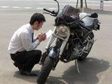 買取バイク確認中2