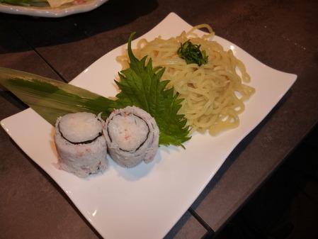 蟹ロール・中太麺