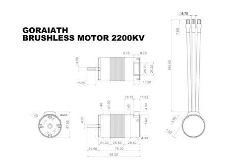 B100674 BRUSHLESS MOTER 2200KV (SUCCESSOR)