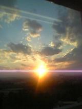 病窓からの夕日