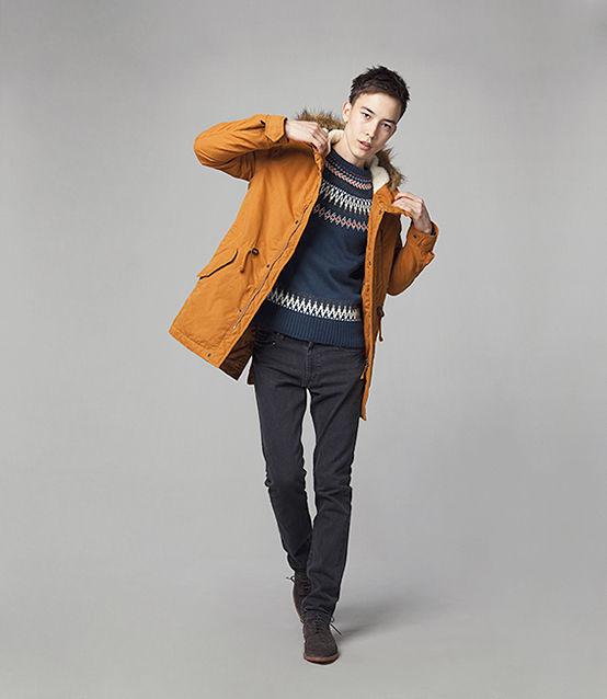 脱オタクファッション全身コーディネイト : 全身gu(ユニクロと同じ会社の低価格ブランド)コーデ