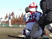 軟式野球デビューした山田勉投手