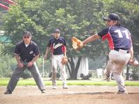 シリーズ初日、リリーフとして登板した永田投手(相模ランバーズ)