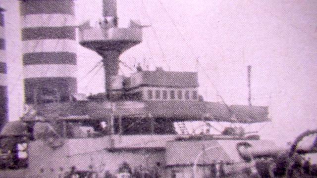 三笠前部艦橋