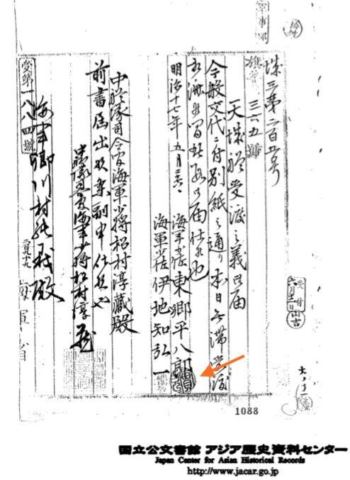 東郷の書類