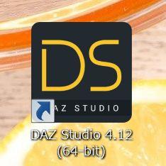 デスクトップに現れるDAZ Studioショートカットアイコン