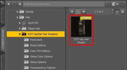 OOT IrayPair Hair Shader