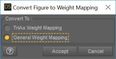 Convert Figure to Weight Mapping dialog
