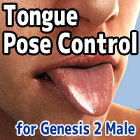 Tongue Pose Control for Genesis 2 Male