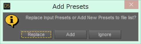 Add Presets