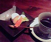 本日のシャーベットとコーヒー