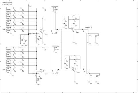 KENBAN System モニターミキサー回路