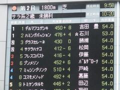 20161119 東京2R 2歳未勝利 プンメリン 01