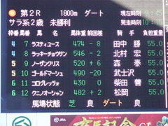 20171217 中山2R 2歳未勝利 ノーザンクリス 01