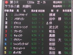 20161204 中山3R 2歳未勝利 メガポリゴン 01