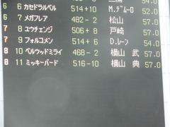 20190608 東京9R 八丈島特別 1勝 ミッキーバード 01
