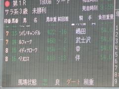 20180325 中山1R 3歳未勝利 ルフィーナ 01