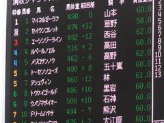 20150926 中山8R 清秋JS メジロサンノウ 01