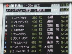 20150621 東京5R 2歳メイクデビュー  カズノメガミ 01