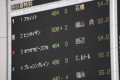 20191103 東京8R 百日草特別 2歳1勝クラス ホウオウピースフル 01