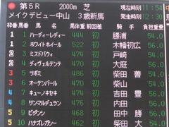 20160227 中山5R 3歳メイクデビュー ツボミ 01