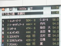 20180128 東京4R 3歳未勝利 ミッキーバード 01