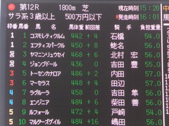 20161210 中山12R (500) トーセンカナロア 01