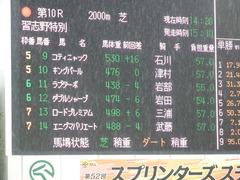 20180929 中山10R 習志野特別(1000) ダブルシャープ 01