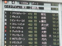 20181008 東京4R 2歳メイクデビュー オビワンズドーン 01