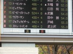 20181124 東京3R 2歳未勝利 ストレートパンチ 01