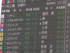 20151121京都2R 2歳未勝利 メイショウノボサン 01