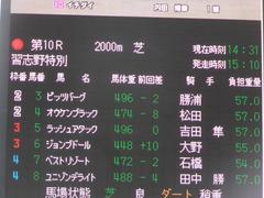 20170930 中山10R 習志野特別(1000) オウケンブラック 01