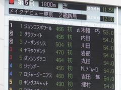 20170611 東京5R 2歳メイクデビュー 01