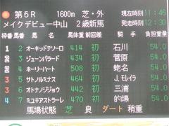 20180929 中山5R 2歳牝馬メイクデビュー オトナノジジョウ 02
