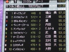 20151031 東京7R 3歳上500万下 コスモポッポ 18