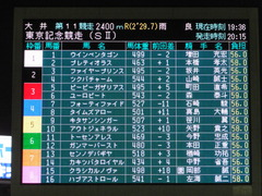 20150916 大井11R 東京記念(S2) ユーロビート 01