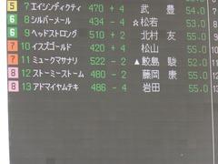 20151121 京都1R 2歳未勝利 アドマイヤムテキ 01