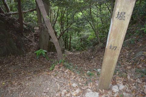 津久井城址 掘り切り2 ブログ