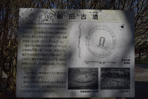 船田古墳 案内板 ブログ