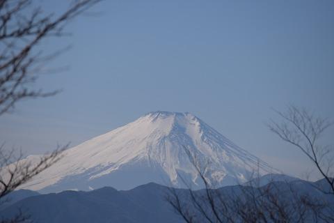 小仏城山山頂からの富士山 ブログ用