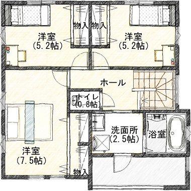 1  2階 平面図