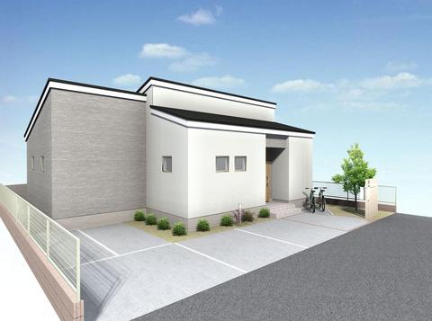 9 新築工事 外構パース