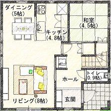 1 1階 平面図